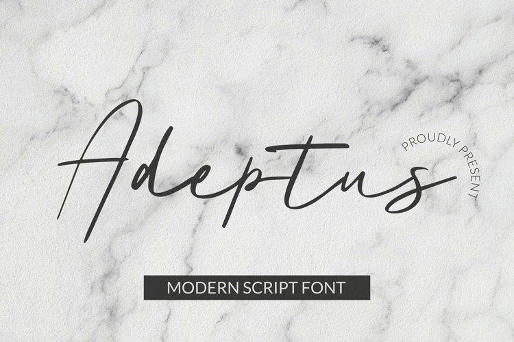 Web Font Adeptus Font example image 1