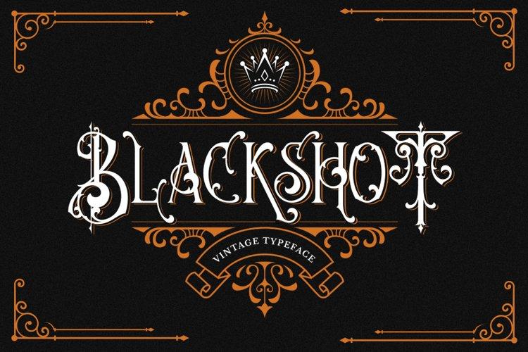Blackshot - Blackletter Font example image 1
