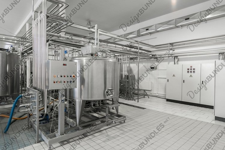 General view of the interior of a milk factory example image 1
