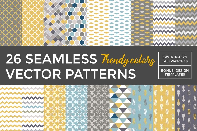 26 vector patterns Trendy Colors example