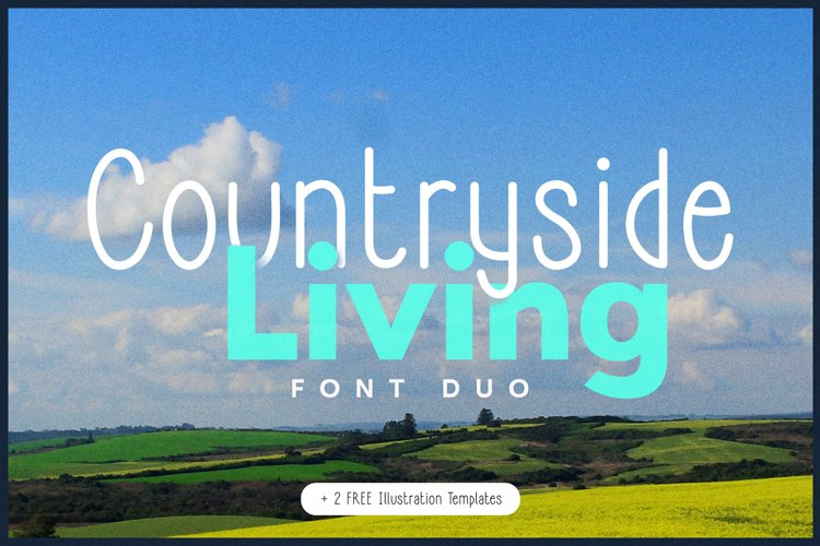 Countryside Living | A Farmhouse Font Duo with FREEBIES