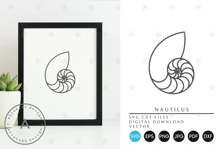 Nautilus SVG   Outline Style example image 1