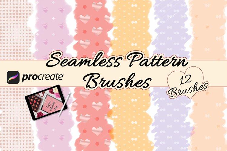 Procreate Seamless Pattern Brushes Valentines Pattern