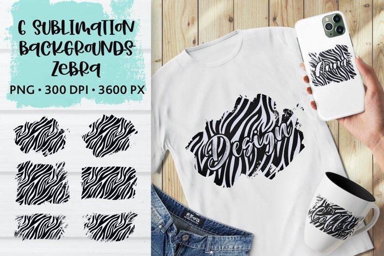 Sublimation Zebra Skin Animal Distressed Backgrounds Bundle example image 1