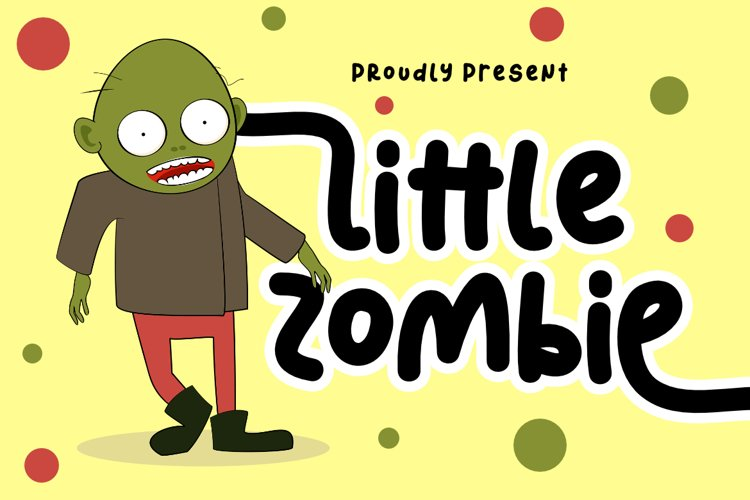 Little Zombie   A Cute Handwritten Display Font example image 1
