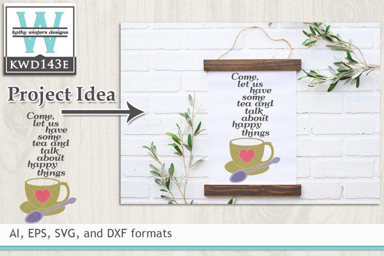 Tea SVG - Tea and Talk example image 1