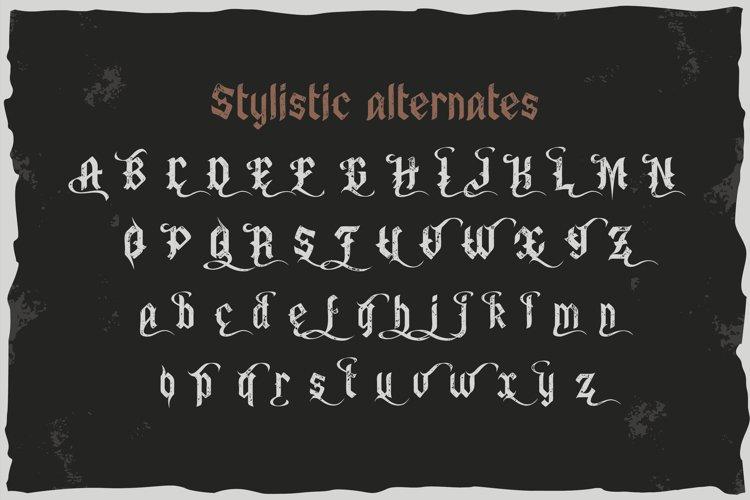 Old Biker. Gothic style vintage label font. example 3