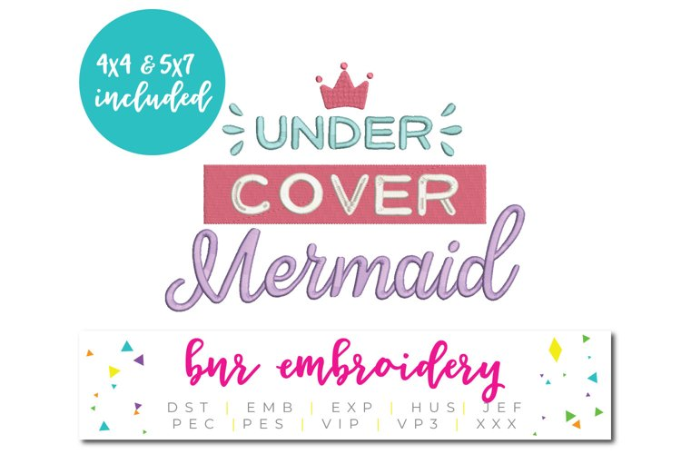 Mermaid Machine Embroidery Design example image 1