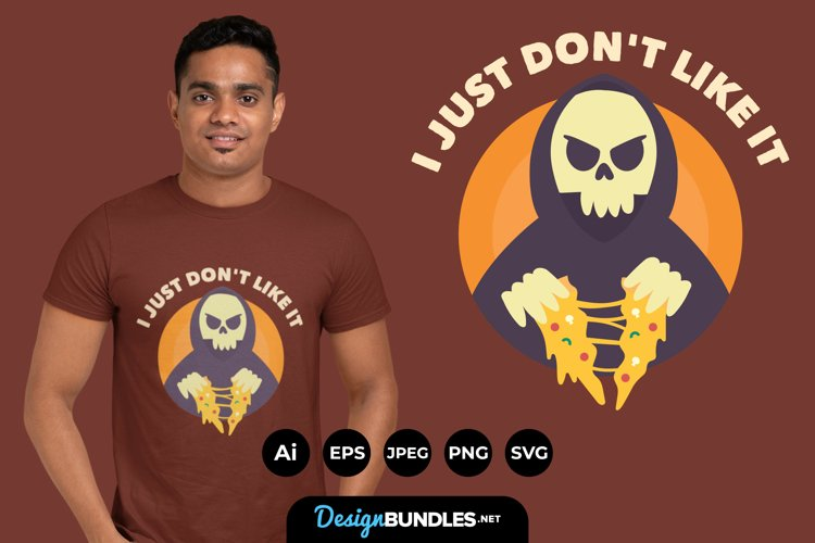 Grim Reaper Hates Pizza for T-Shirt Design
