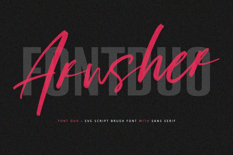 Arusher Brush Font Duo Svg Script example image 1