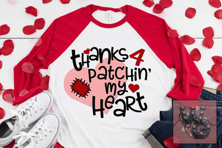 Thanks 4 Patchin My Heart SVG DXF PNG EPS Comm