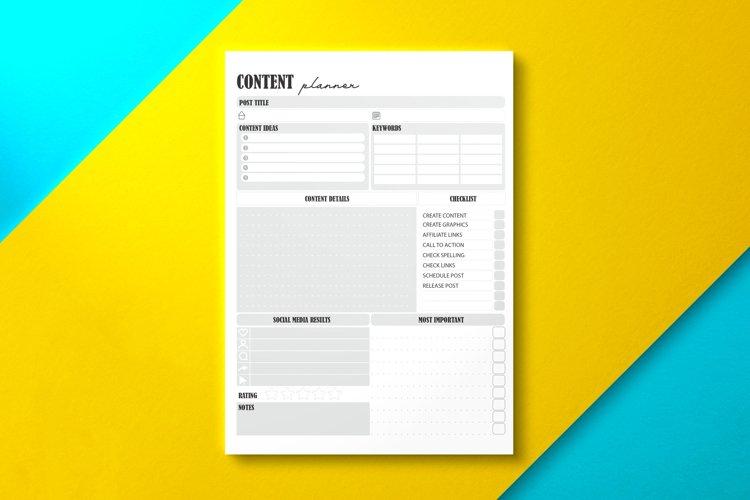 Social Media Content Planner Gray