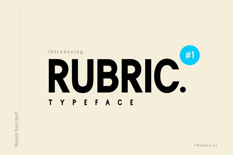 Rubric Sans Serif Font example image 1