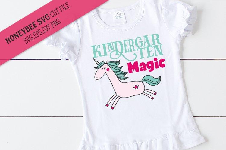 Kindergarten Magic Unicorn SVG Cut File