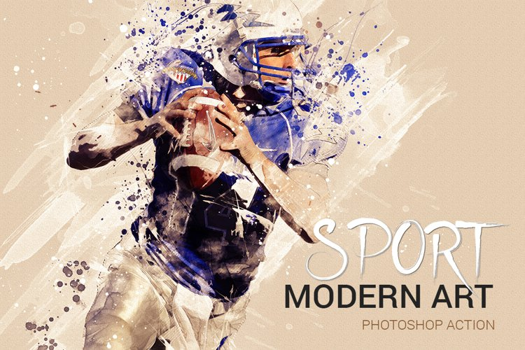 Sports Modern Art Photoshop Action example image 1