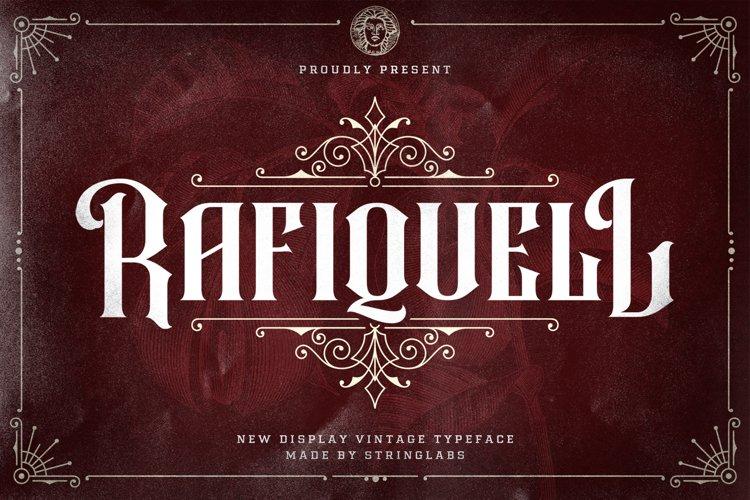 Rafiquell - Victorian Decorative Font example image 1