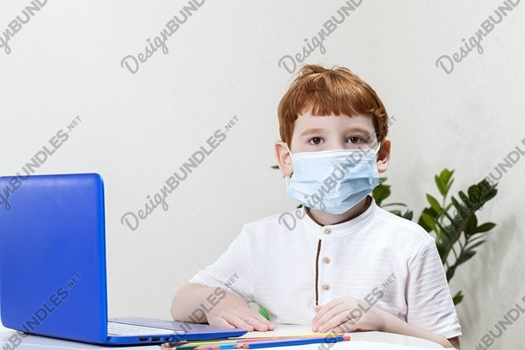 boy in a medical mask example image 1