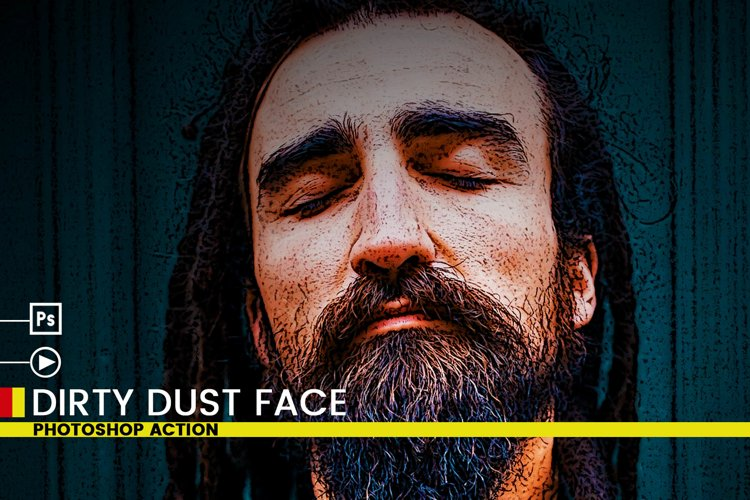 Dirty Dust Face Photoshop Actions example image 1