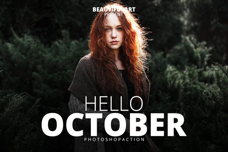 Hello October Photoshop Action