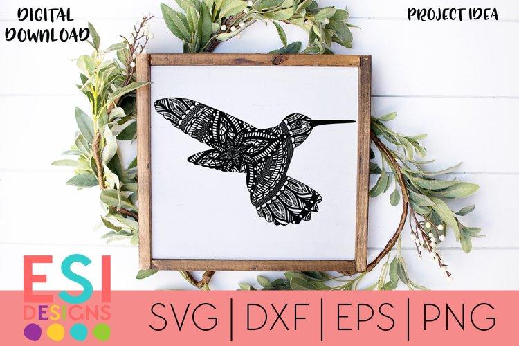 Hummingbird Mandala SVG  Cricut / Silhouette Cut File