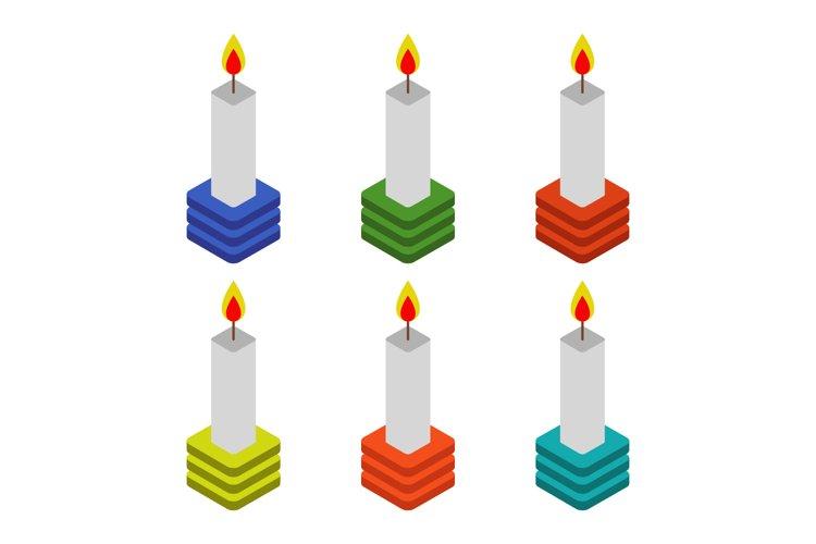 isometric candle example image 1