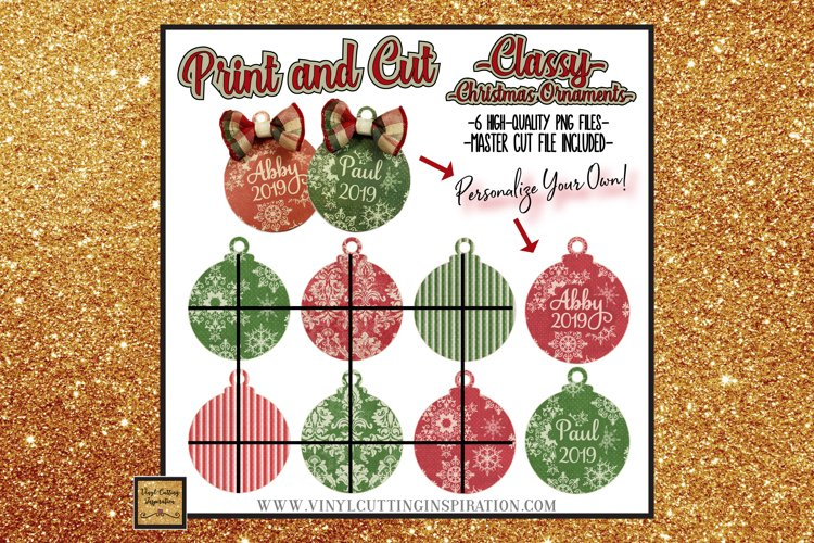 6 Classy Christmas Ornaments Svg Bundle Snowflake Svg damask