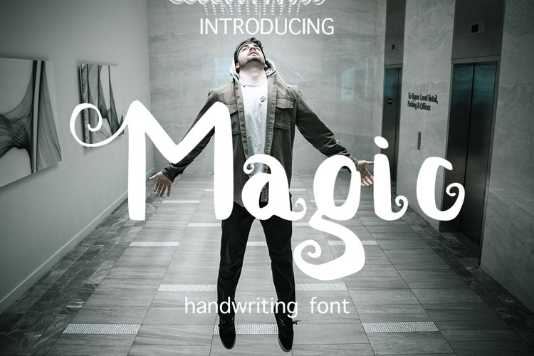 Magic handwritten brush font