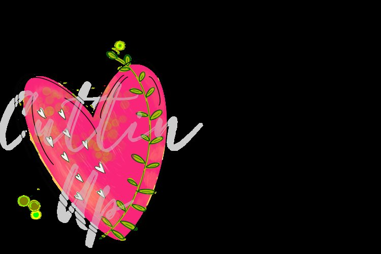 Hand Drawn Heart PNG file. Great for printing or subbing