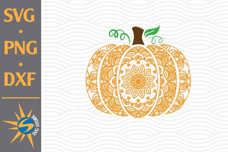 Mandala Pumpkin SVG, PNG, DXF Digital Files Include example image 1