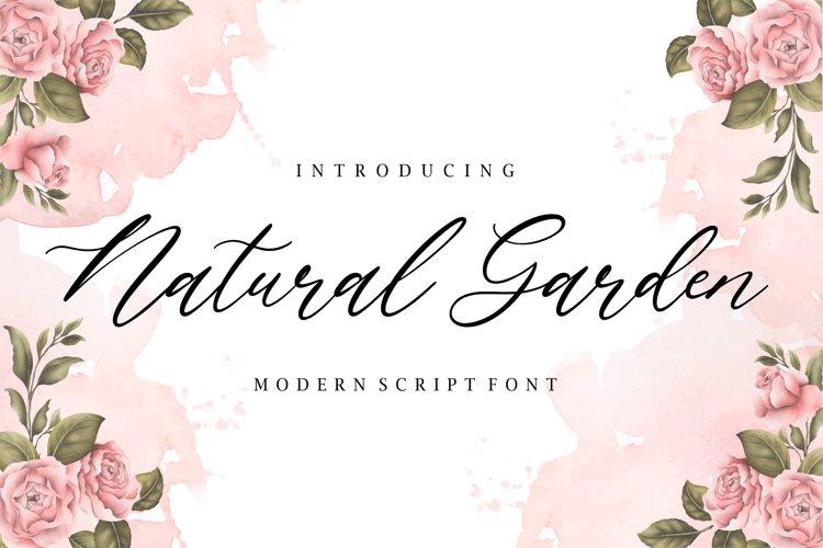 Natural Garden Modern Script Font example image 1