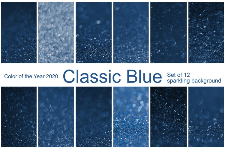 Bokeh Background. Classic Blue. Color 2020 example image 1