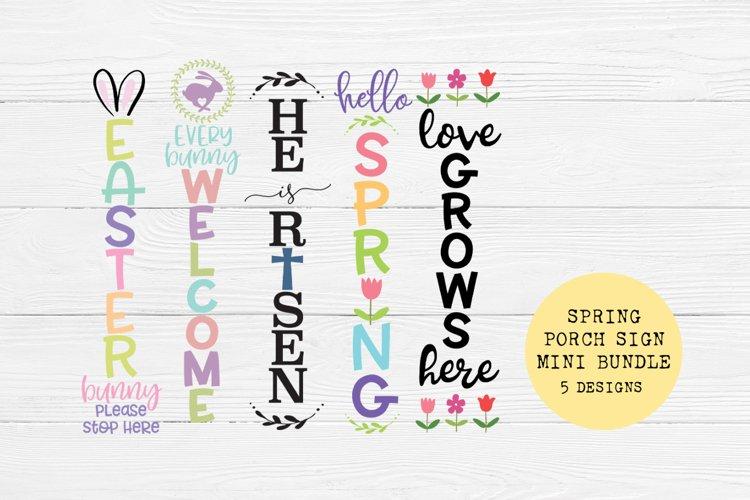 Spring Has Sprung Front Porch SVG Sign Bundle - Easter SVG