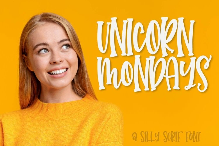 Unicorn Mondays - A Silly Serif Caps Font example image 1