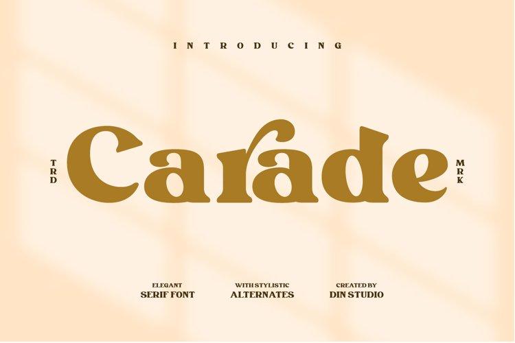 Carade-Elegant Serif Font example image 1