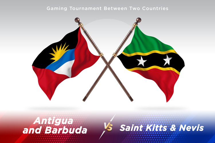Antigua vs Saint Kitts and Nevis Two Flags example image 1