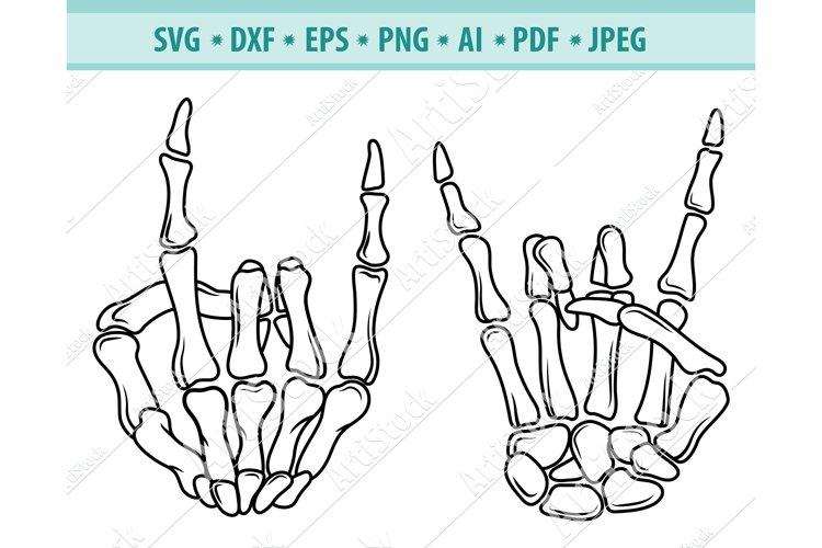 Skeleton hand Svg, Rock Hand Svg, Skeletons Png, Dxf, Eps