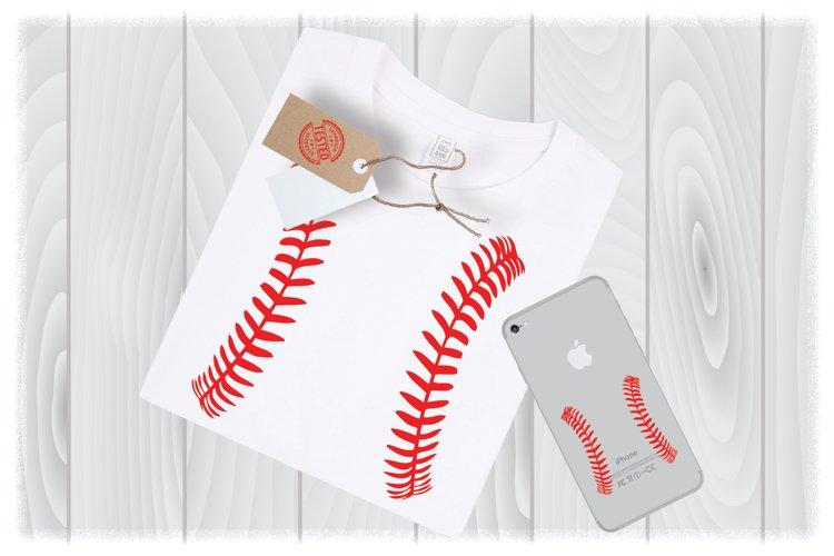 Baseball/Softball Stitches SVG Files for Cricut Design|Softb example image 1