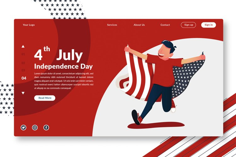Independence Day - Landing Page example image 1