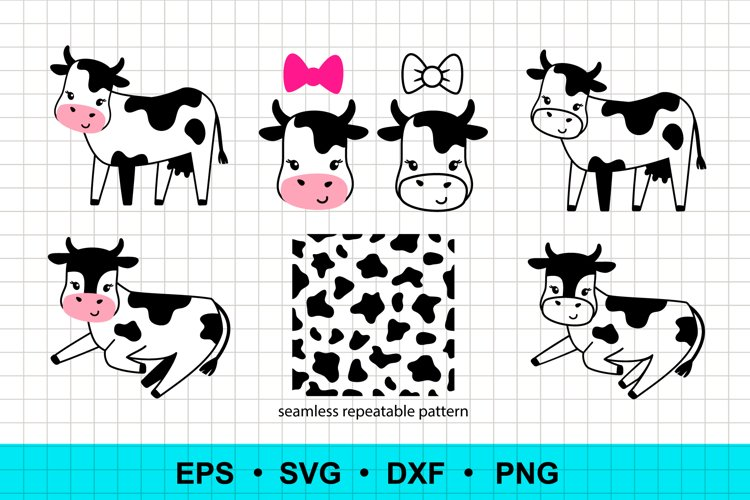 Funny cows clip art example image 1