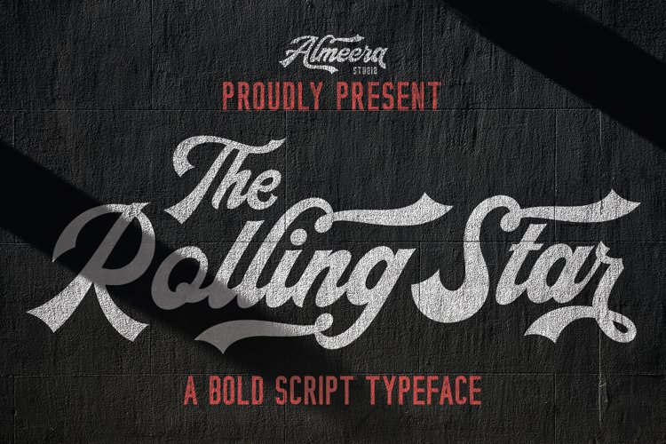 The Rollingstar - Stylish Bold Script example image 1