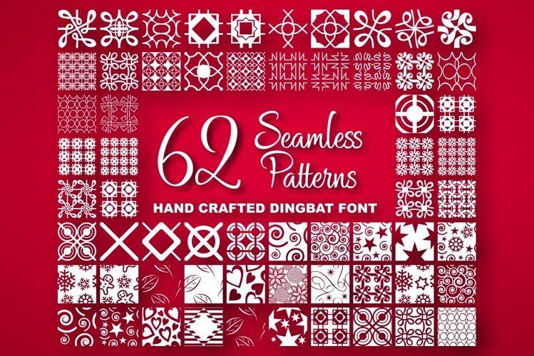 Seamless Pattern Dingbat Font