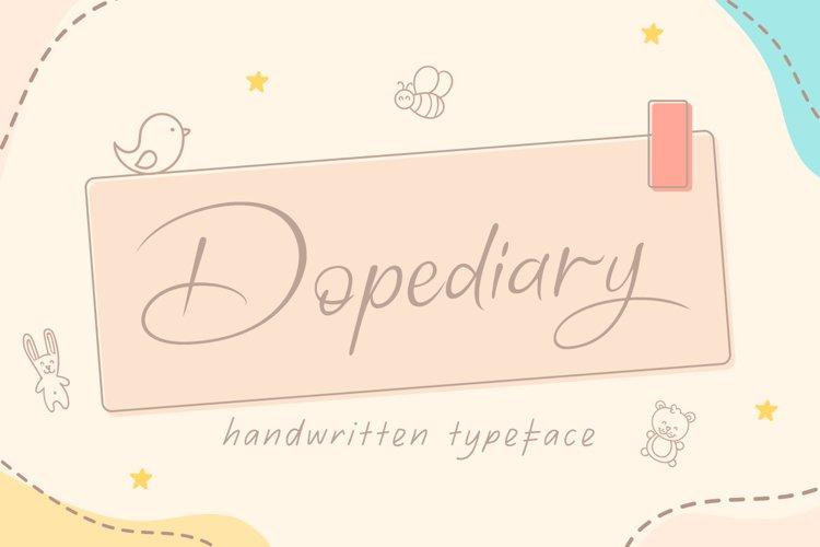 Dopediary Handwritten Typeface example image 1