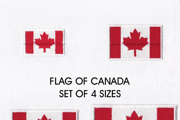 Flag of Canada Machine Embroidery Download Design
