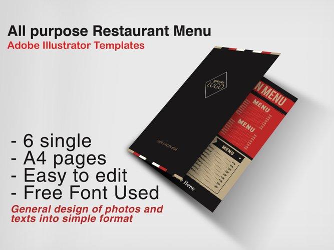 Restaurant Menu example image 1