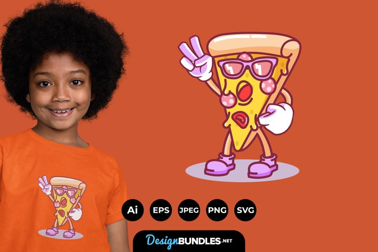 Cool Pizza Illustrations for T-Shirt Design example image 1