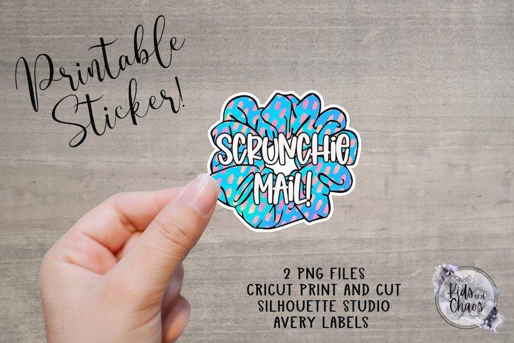Scrunchie mail sticker printable sticker