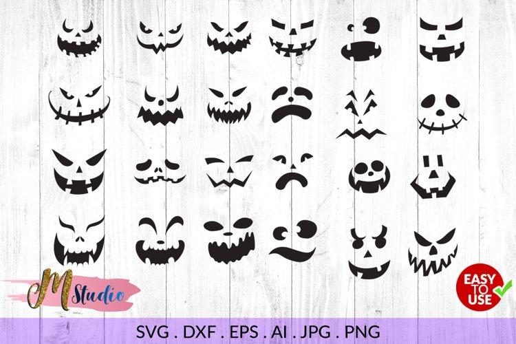 Pumpkin faces svg, for Silhouette Cameo or Cricut