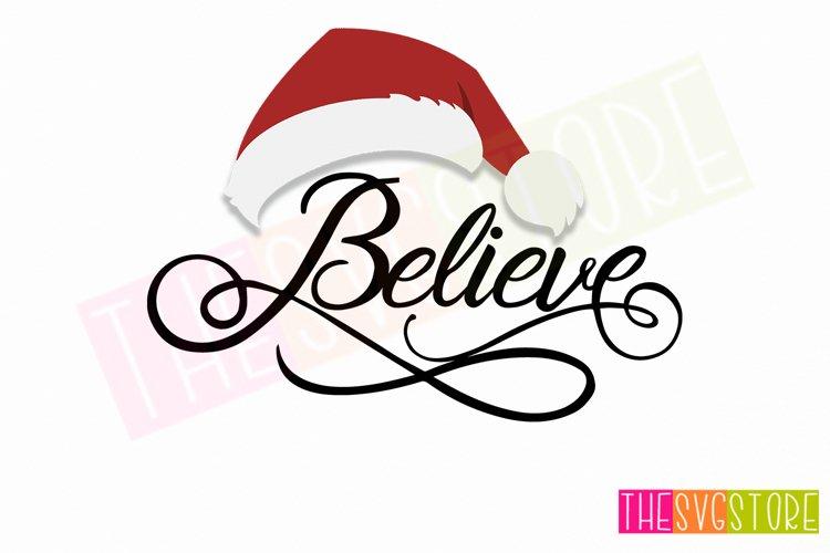 Believe Santa Hat PNG, Believe Santa Shirt
