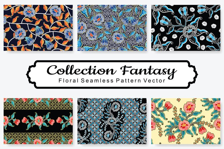 Set Of Fantasy Floral Vector Pattern Vol.14 example image 1