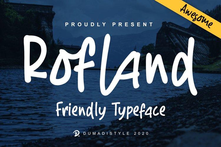 Rofland - Handwritten Typeface example image 1